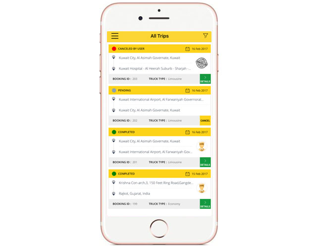 Taxi Iphone App Design