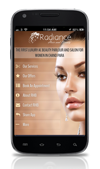 Android App for Beauty salon in India