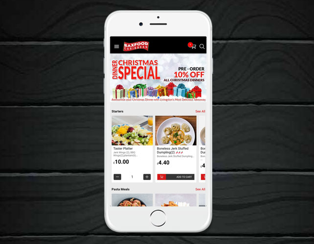 Caribbean Fast Food Takeaway iPhone App