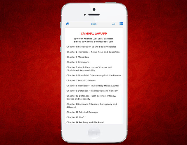 Iphone App for Criminal Law Informations