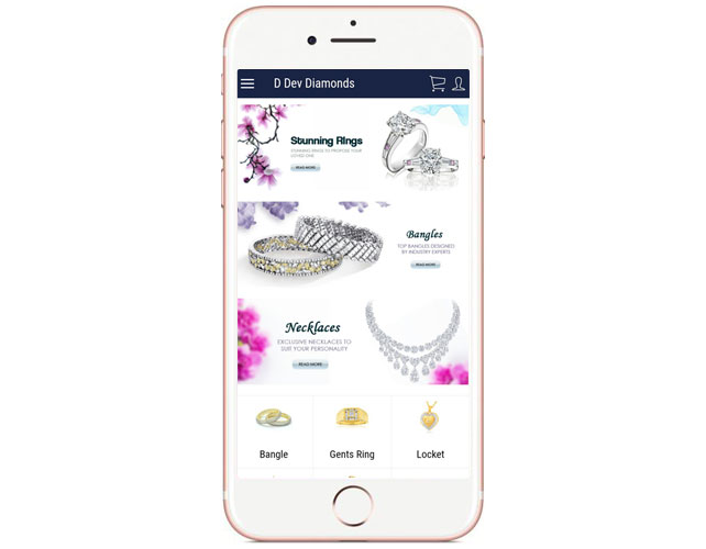 Iphone App of jewellery Business
