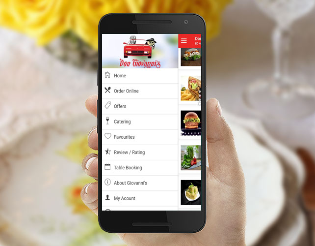 Delicious cuisine serving Android App