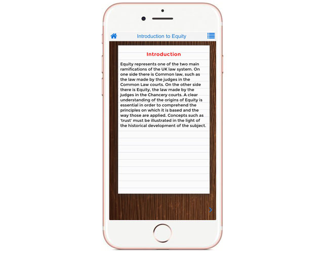Iphone App for Equity Law Informations