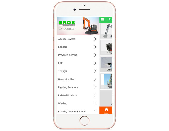 Tool Hire Business Iphone App