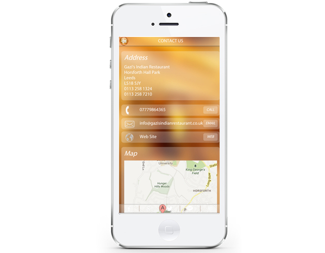 iPhone App For Restaurant in Leeds