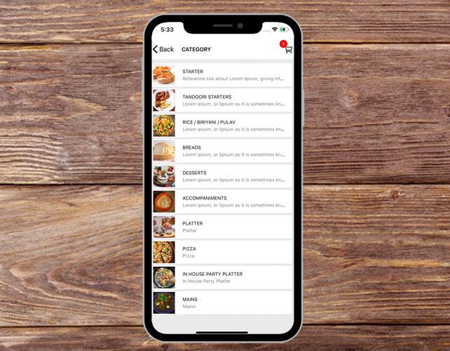Buffet Restaurant iPhone App