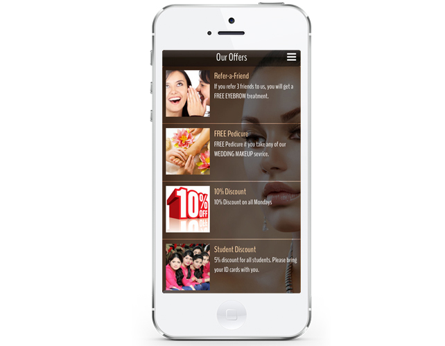 iphone App for Beauty salon in India