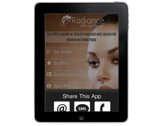 ipad App for Beauty salon in India