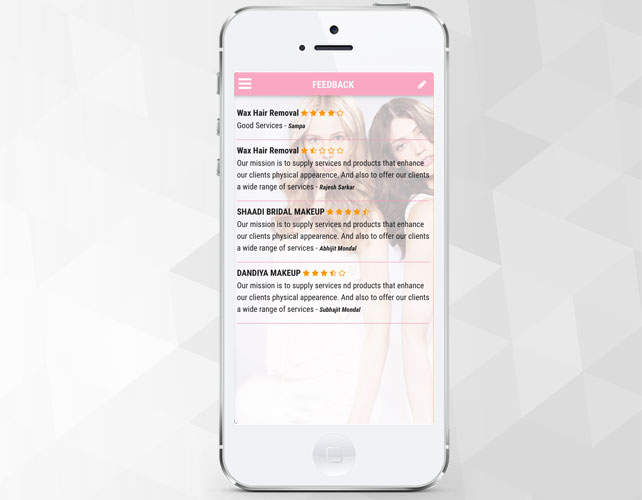 Beauty salon Iphone App