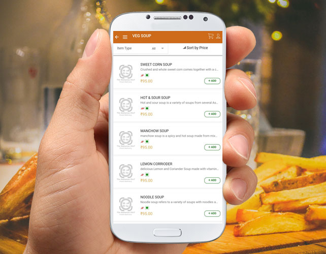 Android App of Restaurant Business