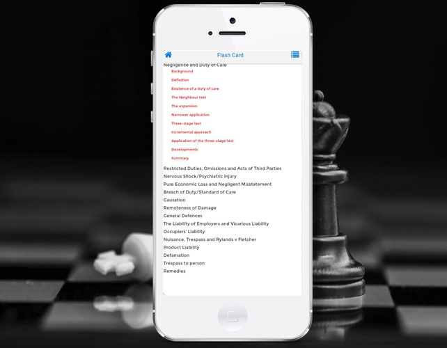 Iphone App for Tort Law Informations