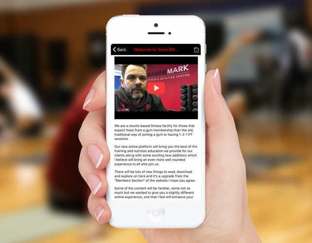 Personal Training iPhone App
