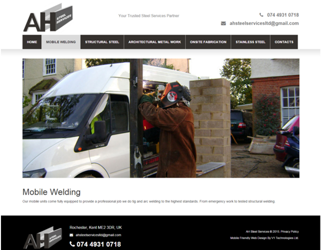 Web Design for Steel Business