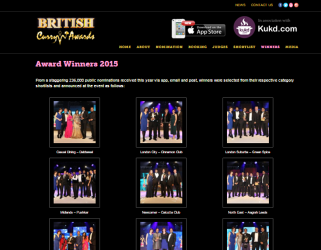 Website for Awards Event