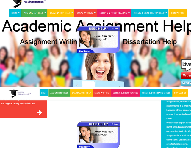 Website for Assignment Writing Business