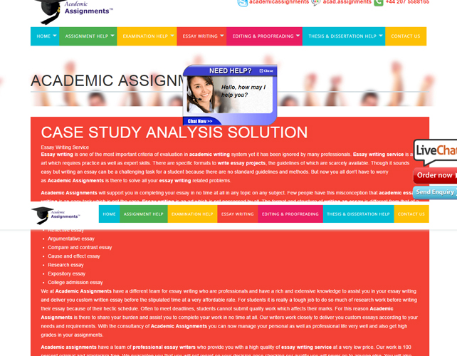 Assignment Help Website Design