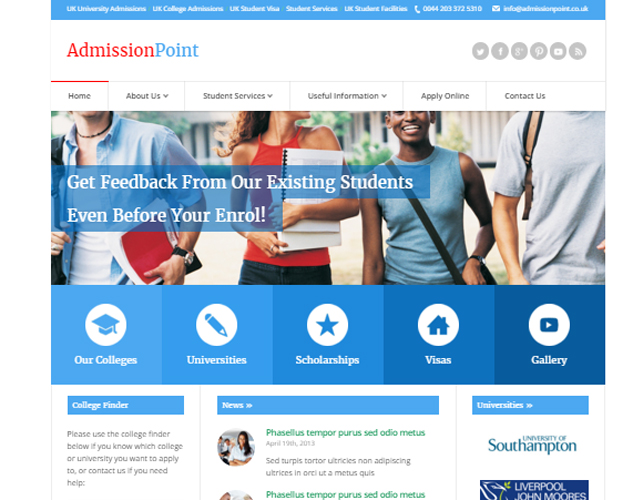 Education Business Website
