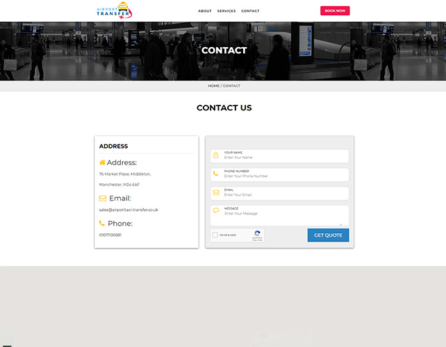 Airport Taxi Services Website