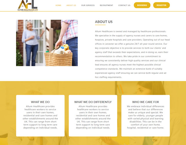 Health Care Solutions Website