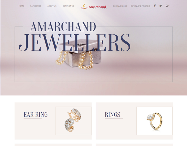 Jewellery Business Website Design