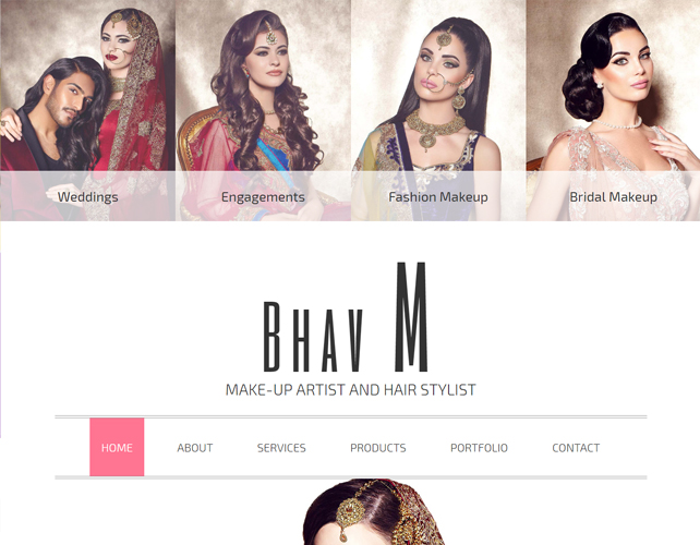 MAKEUP ARTIST & HAIR STYLIST WEBSITE