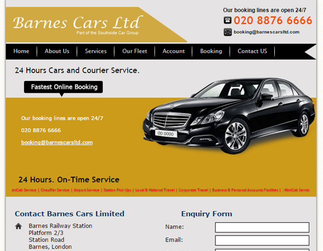 Taxi Hire Website
