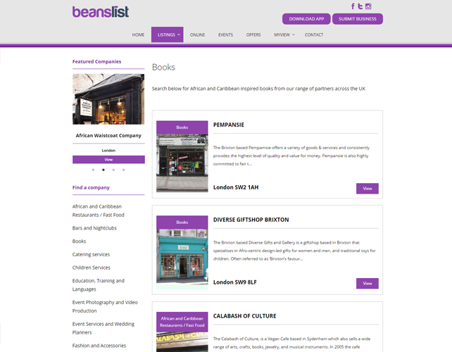 Business Directory Website Design