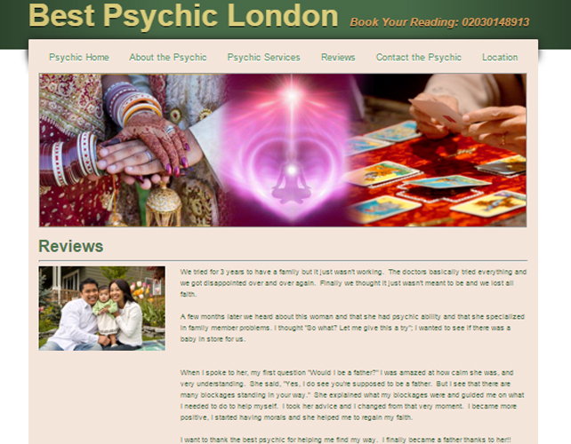 Best Psychic Website Desing