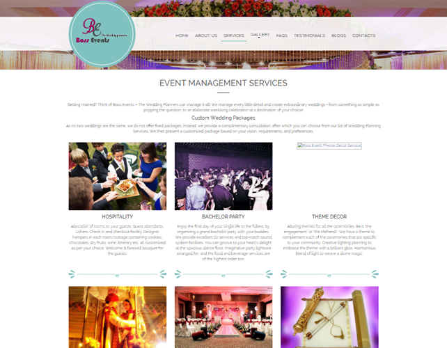 Website for Event Management Business