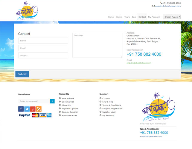 Tour And Travels Website Design