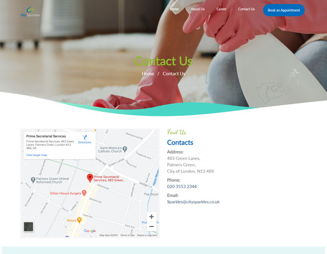 Cleaning Service Website Design