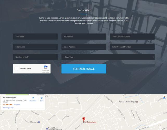 Barbers Website Design