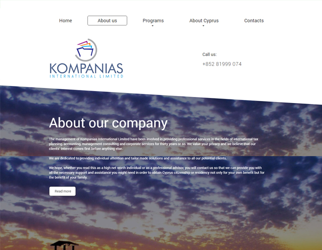 Management consulting Website Design