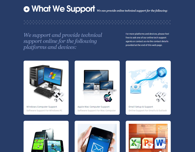 Outsourcing Services Website design