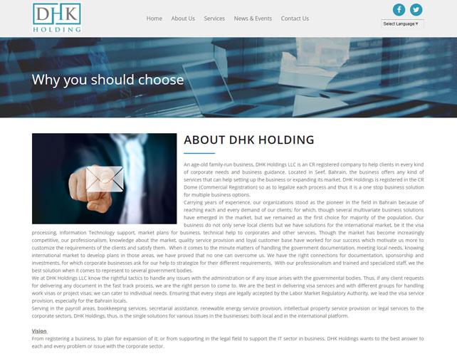Business guidance Website