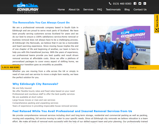Professional removals company