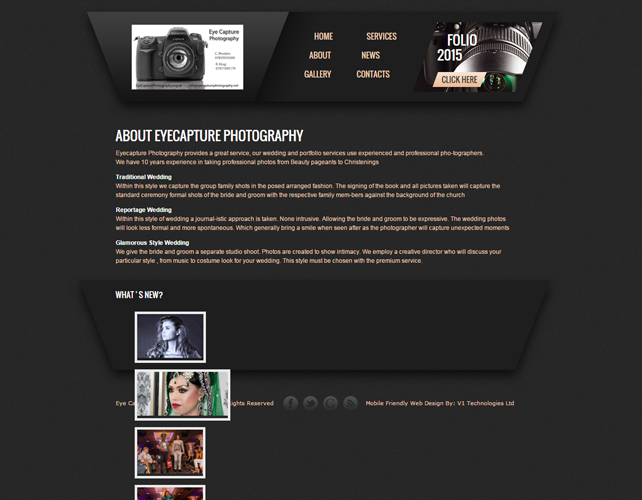 WEBISTE FOR PHOTOGRAPHERS
