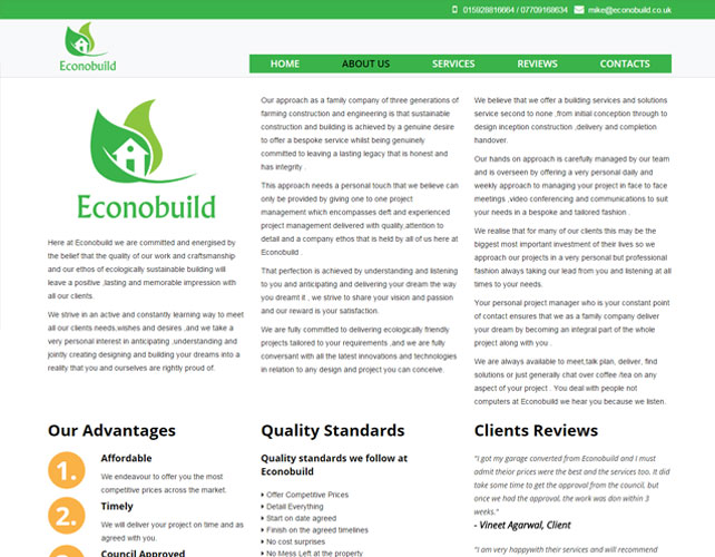 Home Improvement Website Design