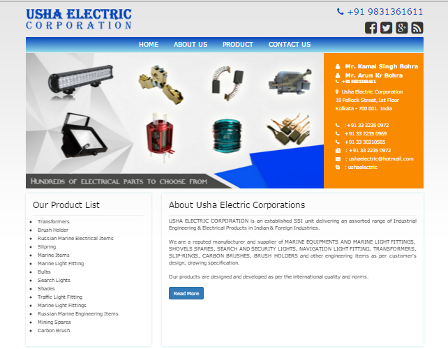 Electrical Products Web Catalogue