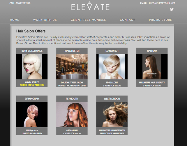Web Design for Beauty Offers