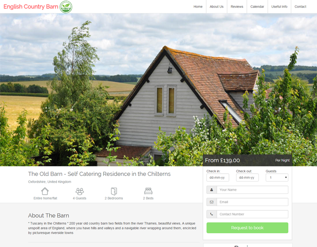 Holiday Cottage Booking Website