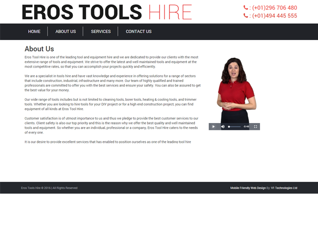 Website for Tool Hire Business