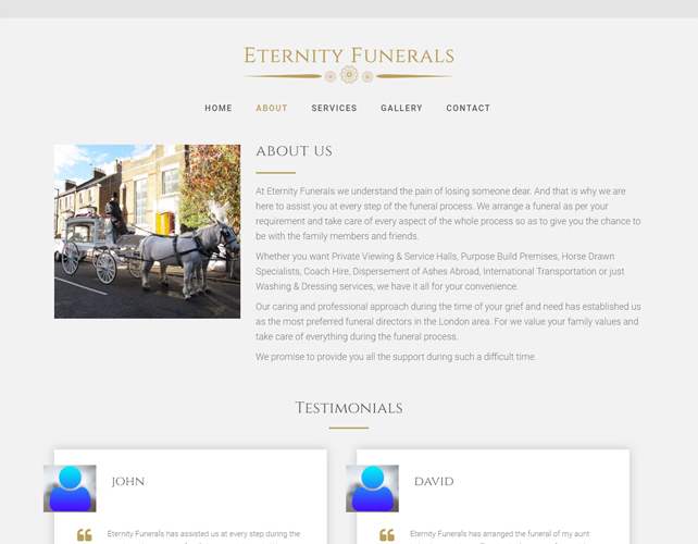 Funerals Website