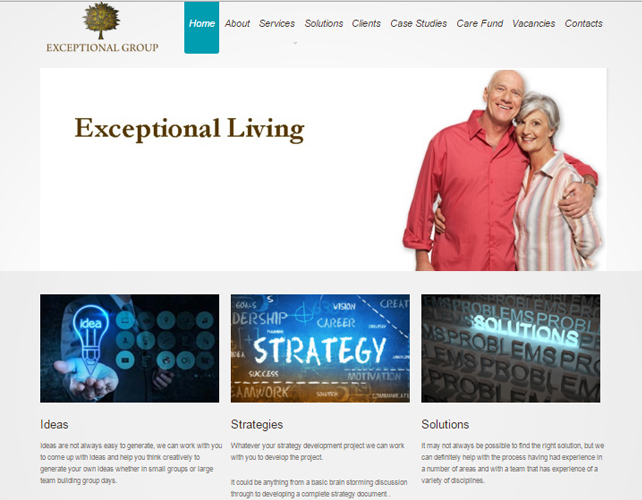 Website for Senior Care Solutions