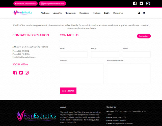 Medical Aesthetic Care Website
