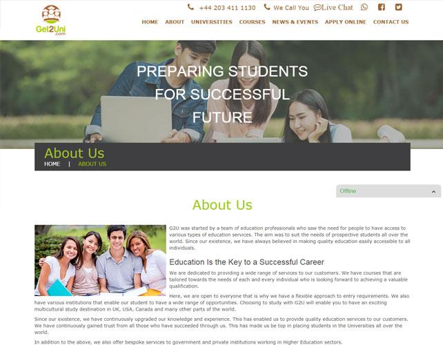 Education services Website