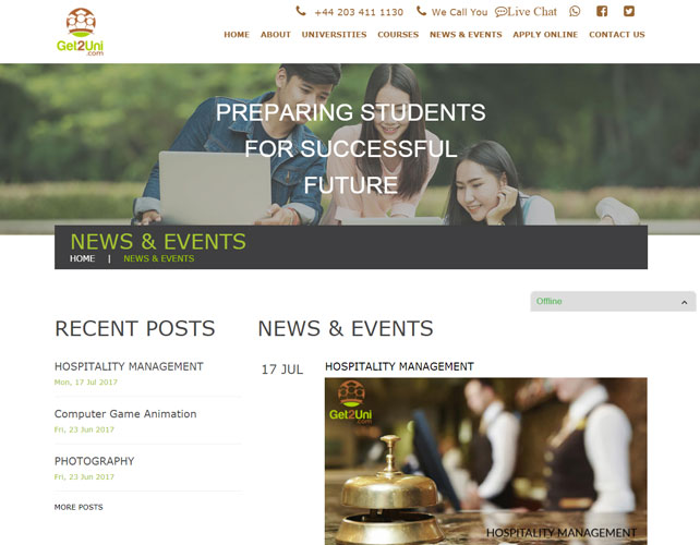 Education services Website