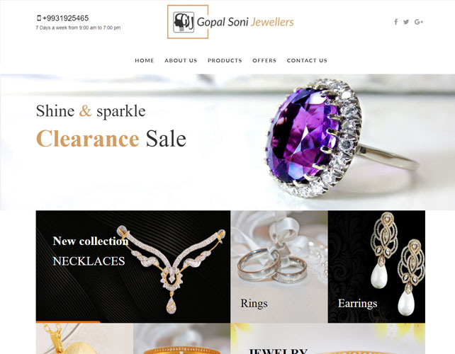 Website for Jewellers Business