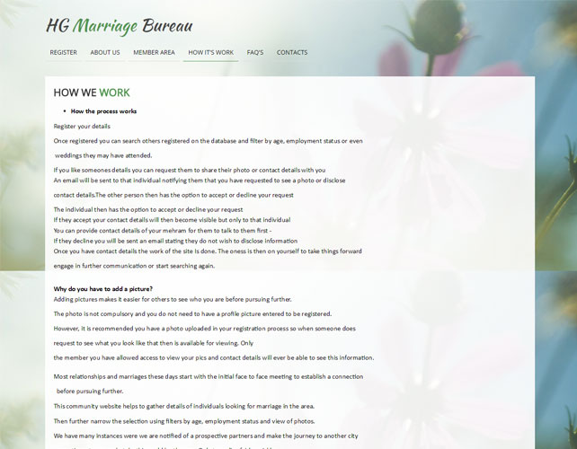 Marriage Website Design