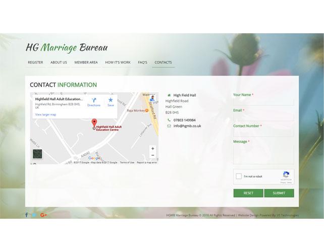 Marriage Website Design
